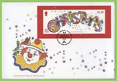 Isle of Man 1996 Christmas miniature sheet on First Day Cover