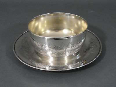 Antique Woodside Sterling Silver Childrens Dishes Child's Bowl & Plate NR