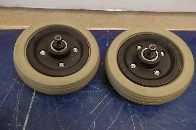 """Pride Jazzy Select Quantum Power Wheelchair 6"""" x 2"""" Caster Wheels #874"""