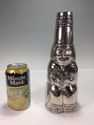 Very Rare & Unique Sterling Silver Peruvian Tribal Figural Cocktail Shaker, Cup