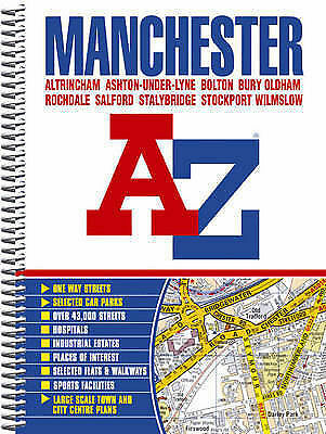 Manchester Street Atlas (spiral), Geographers A-Z Map Company | Spiral-bound Boo