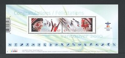 Canada Souvenir Sheet Ss 2373 Celebrating The Olympic Spirit