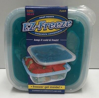 Cool Gear Ez-Freeze Freezable Containers X 3  . Freezer Gel Inside