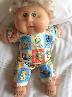 "DOLLS CLOTHES made to fit 14"" CABBAGE PATCH DOLL - PYJAMAS - Lemon Squares Print"