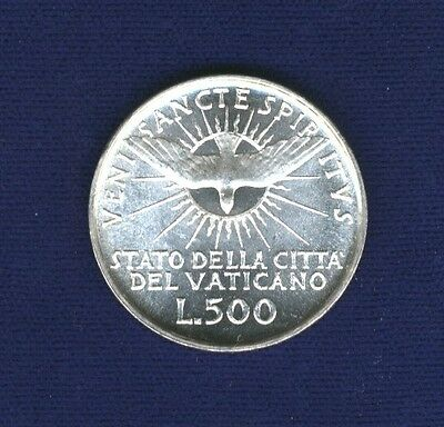 "Vatican City  ""sede Vacante""   1958  500 Lire Silver Coin, Gem Uncirculated"