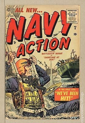 Navy Action #8 1955 FR/GD 1.5 Low Grade
