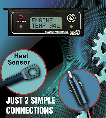 ENGINE WATCHDOG TM4 (( AUDIBLE )) ENGINE TEMPERATURE ALARM with HI TEMP RECORDER