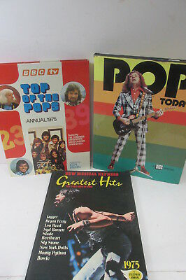 Retro Music book set x 3, NME, Pop Today and Top of the Pops