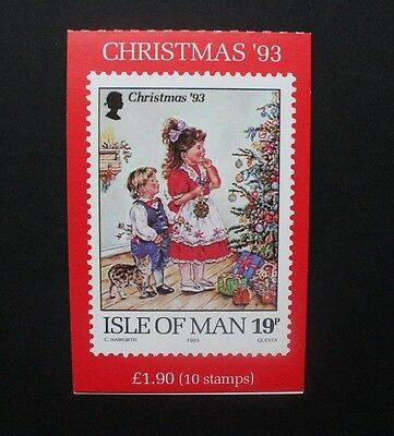 ISLE OF MAN 1993 Christmas. 19p £1.90 BOOKLET. Mint Never Hinged. SGSB35.