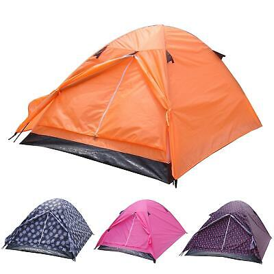 Azuma 2 Man Double Skin Summer Music Festival C&ing Hiking Outdoor Dome Tent  sc 1 st  PicClick UK & NEW TESCO 4 Man Double Skin Camping Festival Hiking Dome Tent ...