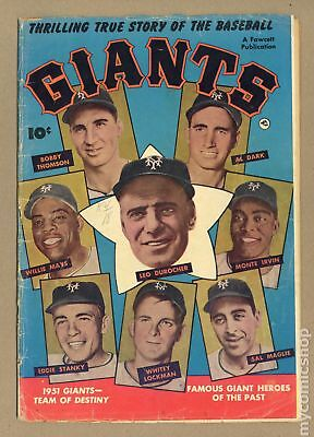 Thrilling True Story of the Baseball Giants #1 1952 GD- 1.8
