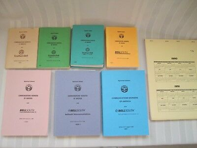 CWA, Southern Bell, BellSouth Union Contracts - Lot of 7