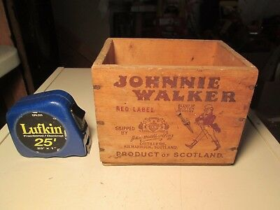 Vintage Johnnie Walker Airline Size Wooden Crate Miniatures Box Canada Dry