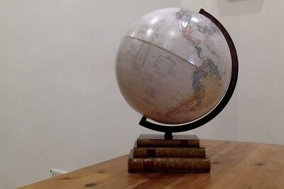 Cram. Classic Globe. Stacked on weight of books.12inches