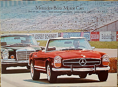 1969 1970 Original Mercedes Benz 280SE 280SL 300SEL 6.3/2.8 600 Dealer Brochure