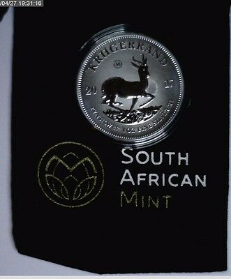 2017 Silver Krugerrand South African Mint ~  50th Anniversary Privy 1 oz Unc