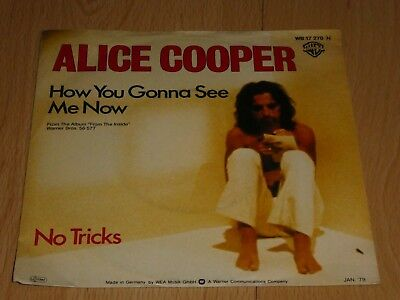 """7"""" Single: Alice Cooper – How You Gonna SeeMe Now / No Tricks"""