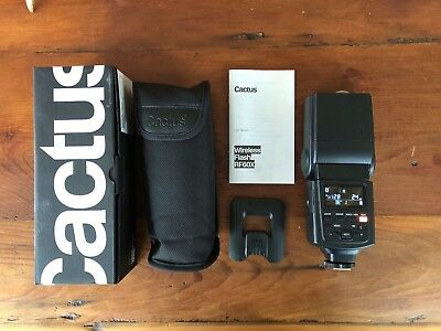 Cactus RF60X Wireless Flash with box, case, stand, manual. Barely used (3 avail)