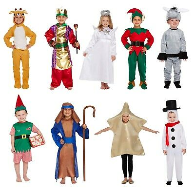 Childs Christmas Fancy Dress Up Outfit Xmas Nativity Pantomime Party Outfit