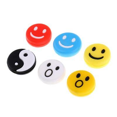 6pcs Silicone Tennis Racket Vibration Dampener Shock Absorber Mixed Color