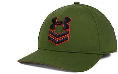 12ffbf5512e UNDER ARMOUR UNDENIABLE Stretch Fit Cap Hat M L Olive and Red ...