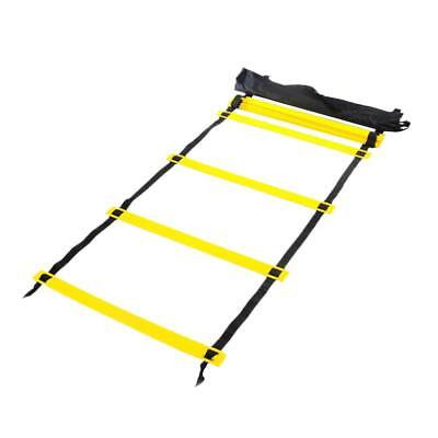 8 Rungs 4m Speed Agility Training Ladder Football Soccer Fitness with Bag