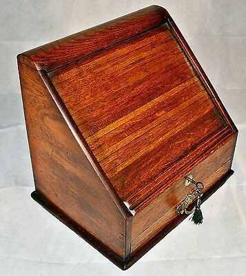 Late 19th Century Oak Roll Top Stationary Cabinet