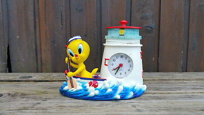 2004 Looney Tunes, Tweety - Warner Bros. Figur mit Uhr - France  Interne-Nr. 525