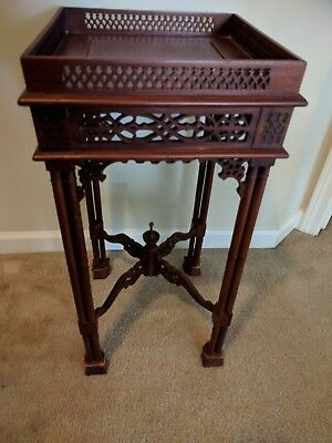 Antique Indonesian mahogany Urn stand