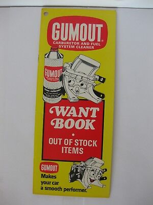 Gumout Carburetor and Fuel System Cleaner Advertising Want Book