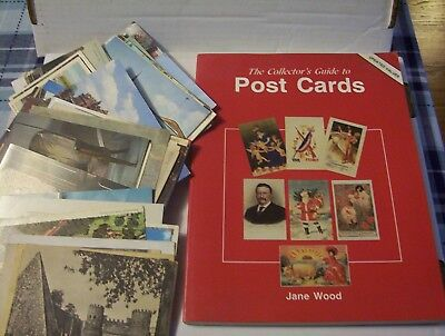 81 Vintage Post Cards & Book on Collecting Post Cards - US & International Cards