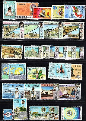 Oman 1971-99 Collection Of 45 In Complete Sets S.g. 193, 179-18, 241-244,363-372