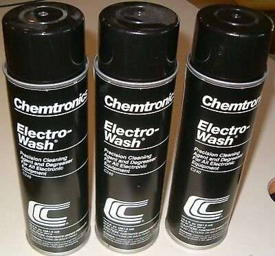 Lot of 3 22 oz. Spray Cans Electro-Wash Electronics Degreaser (Chemtronics C240)