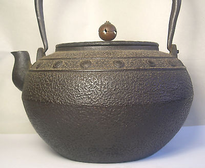 An Antique Iron and Copper Japanese Teapot Z26