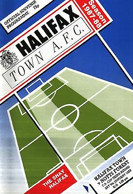 1987/88 Halifax Town v Nottingham Forest, FA Cup, PERFECT