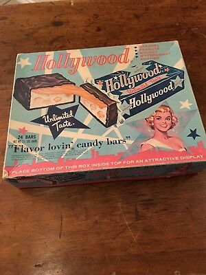 Vintage Cardboard Candy Box for Hollywood Chocolate Bar Movie Star