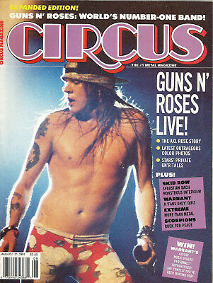 Axl Rose on Cover of Circus magazine 1991