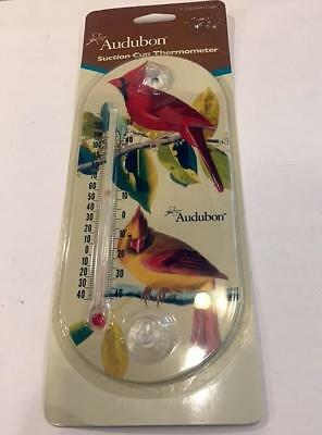 Audubon Cardinal Suction Cup Thermometer-New In Package!