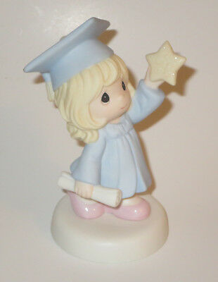 Reach For The Stars Precious Moments Figurine Girl Graduation Cap Gown NWOB Star
