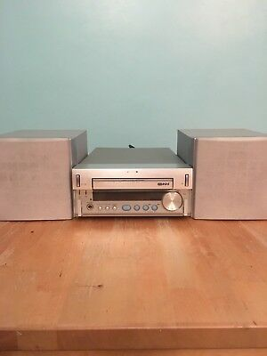 Sony HCD-SD1 Compact Shelf Stereo Hi-Fi CD Player Amplifier Tuner and speakers