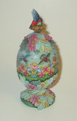 Natures Grace Egg Box G DeBrekht Trinket Hummingbirds Flowers Magnetic Top