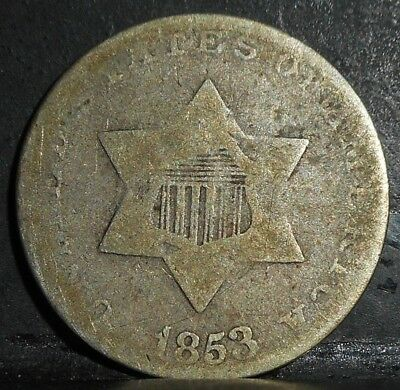 1853 3 Cent Silver....