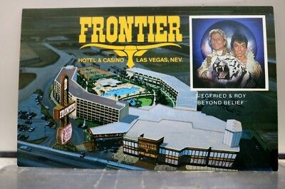 Siegfried and Roy Frontier Hotel Casino Nevada NV Las Vegas Postcard Old Vintage
