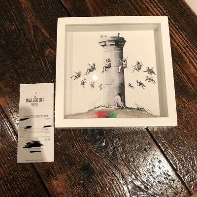 Walled Off Hotel Box Set from Banksy with receipt