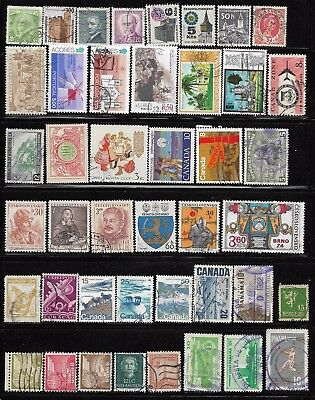 Worldwide Off Paper Packet Lot of 43 all different World Stamp Collection used