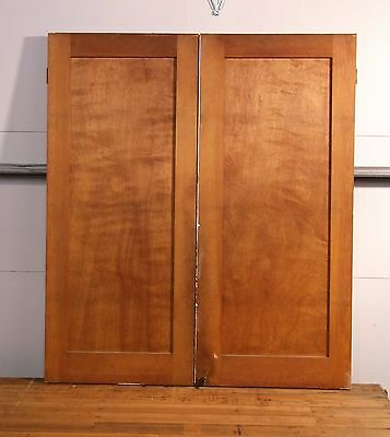 "Antique Vintage Pair Cabinet Doors from Old Built In Kitchen Cabinet 43"" Tall"
