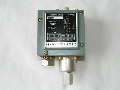 General Electric Pressure Switch, Part No. CR127B5, 1-75 PSI [R4C]