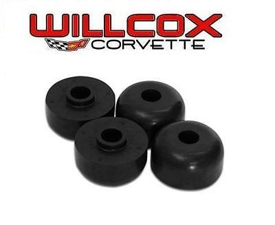 63-82 Corvette Rear Spring Mount Cushions - Rubber - 4 Piece Set