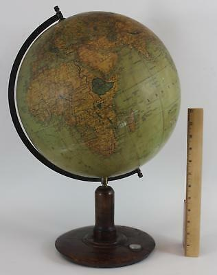 Antique Early 20thC Norwegian Writing, Andvord Jordglobus World Globe, NR