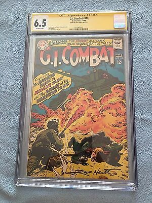 G.I. Combat #128 (Feb-Mar 1968, DC) CGC SS 6.5 Signed by Russ Heath OW Pages